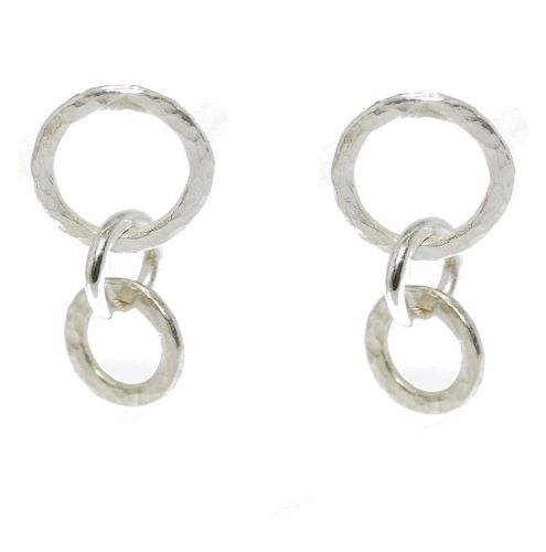 Vanilla Links Earrings - Handmade Silver Earrings - Exclusive to Nude Jewellery £145 click to visit Nude Jewellery