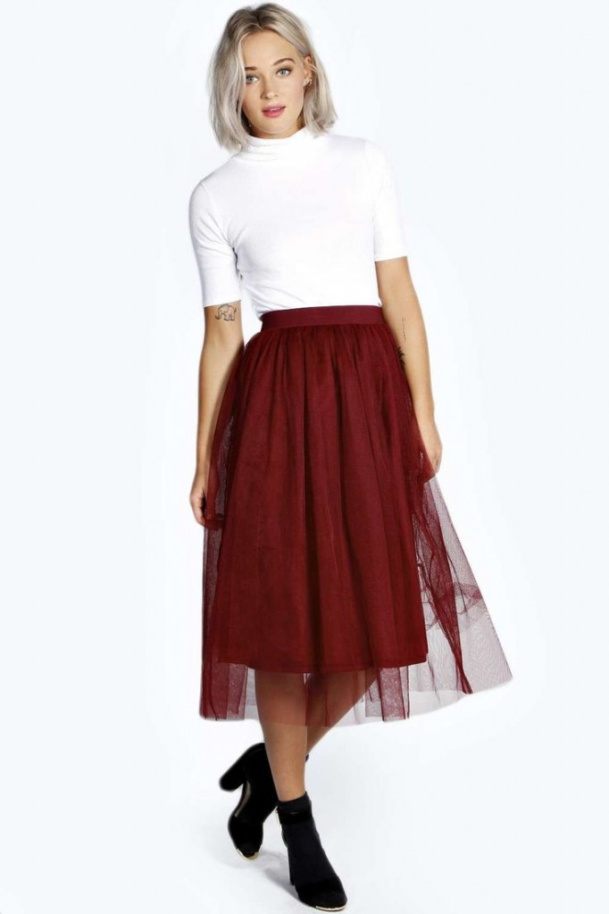 Molly Full Mesh Midi Skirt £25 click to visit Boohoo