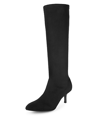 M&S COLLECTION Pointed Toe Stretch Long Boots with Insolia® T028747     £39.50 click to visit M&S