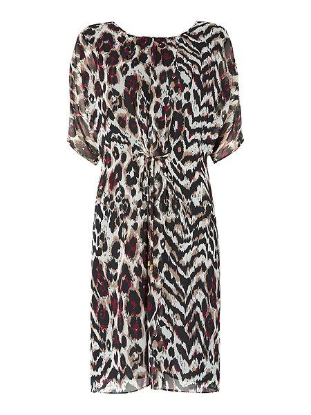 Biba Leopard print tie front dress £99 click to visit House of Fraser