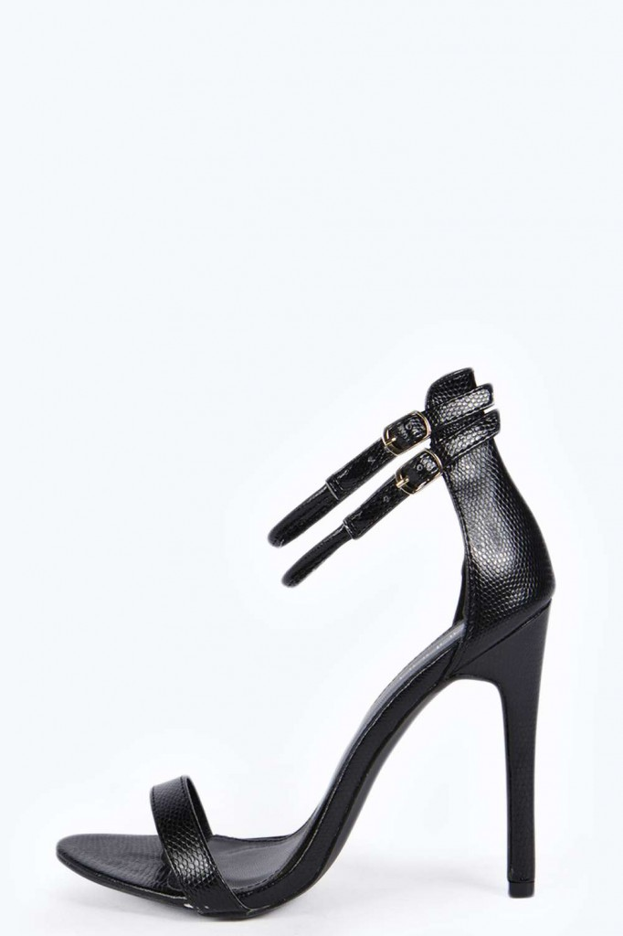 Tammy Snake 2 Part Heels £25.00 click to visit Boohoo