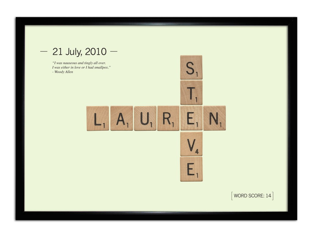 Personalised Lovers Tile Framed Print £24.99 click to visit Toxicfox