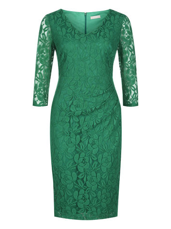 Emerald lace dress now £79.20 click to visit Planet