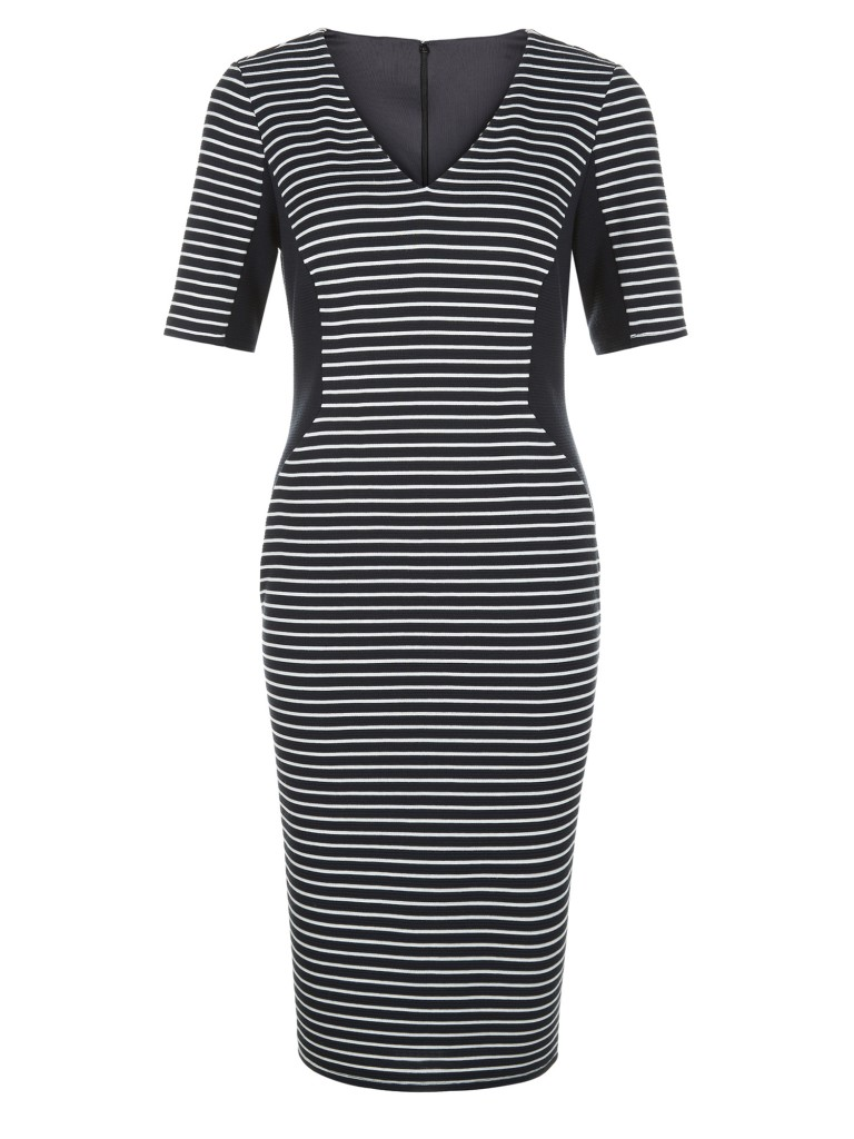 STRIPE PONTE SHIFT DRESS £79.20 click to visit Planet