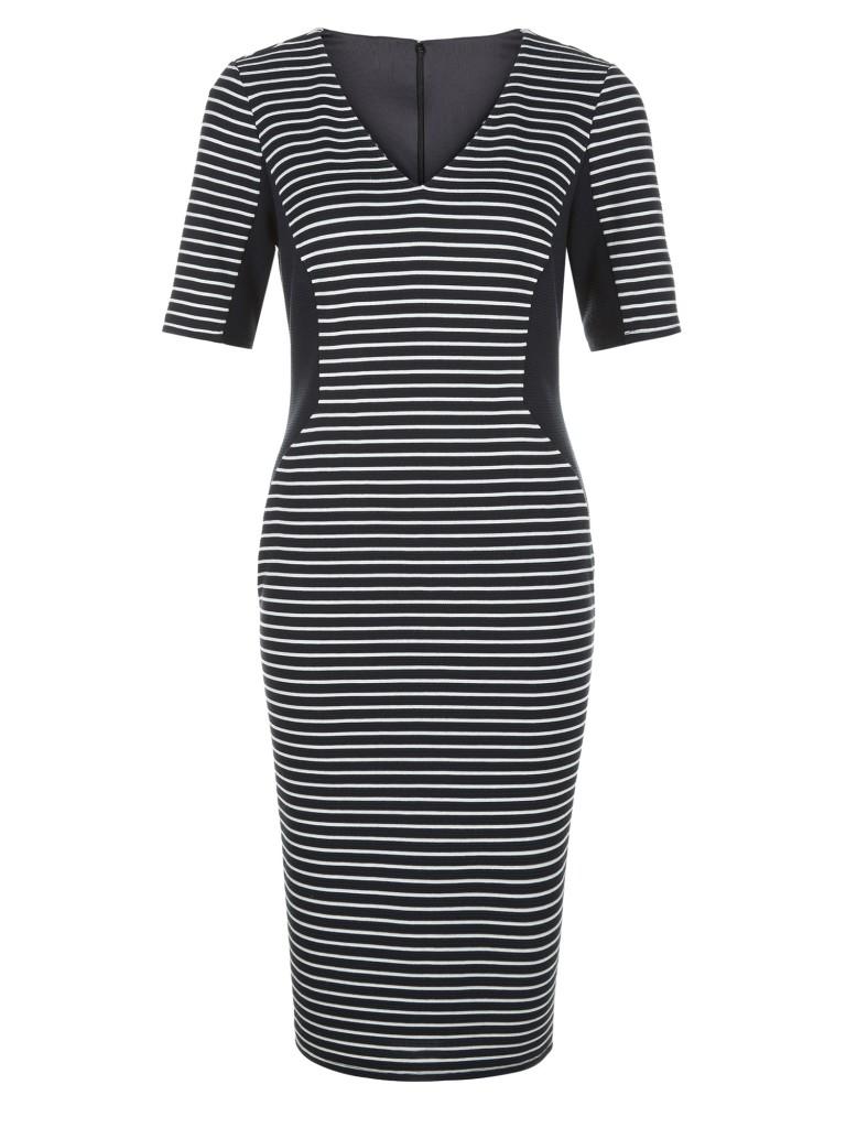 STRIPE PONTE SHIFT DRESS £79.20 click to visit Planet