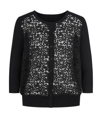 LACE FRONT CARDIGAN £55.20 click to visit Planet
