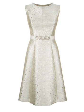 JACQUARD EMBELLISHED PROM DRESS Item No. 060036771 £149.00 click to visit Kaliko