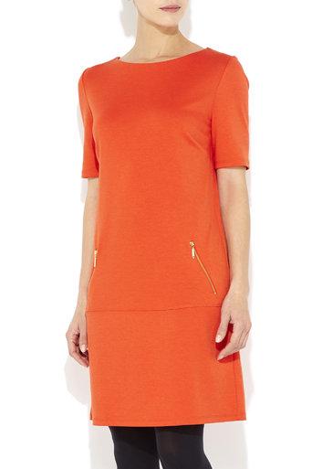 Orange Drop Waist Zip Dress     Was £29.00     Now £27.55 click to visit Wallis