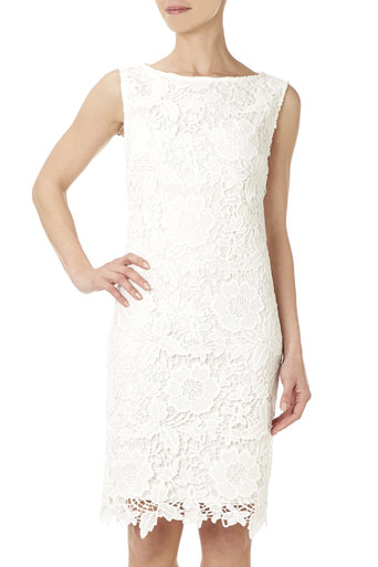 Ivory Floral Lace Shift Dress £50 click to visit Wallis