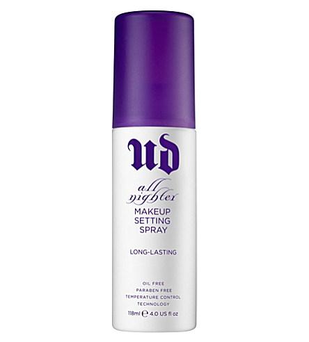 URBAN DECAY All Nighter long-lasting make-up setting spray 120ml     £21.00 click to visit Selfridges