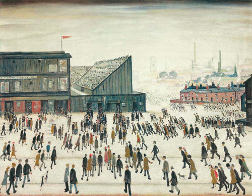 Going To The Match Art Print | by L S Lowry | #418626 £19.95 click to visit Easy Art