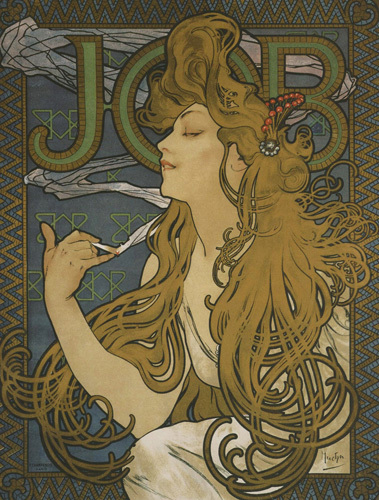 Job, 1897 Art Print | by Alphonse Mucha | #7352 £5.95 click to visit Easy Art