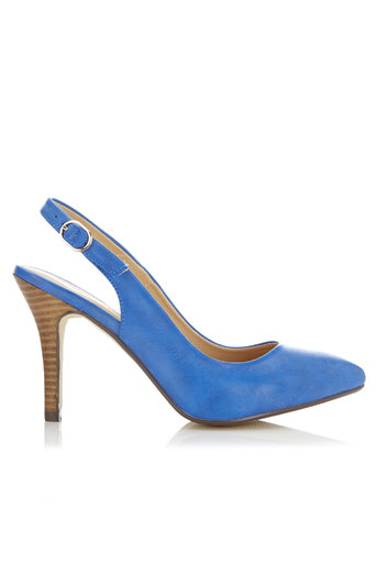 Blue Pointed Slingback Court Shoe     Price: £35.00 click to visit Wallis