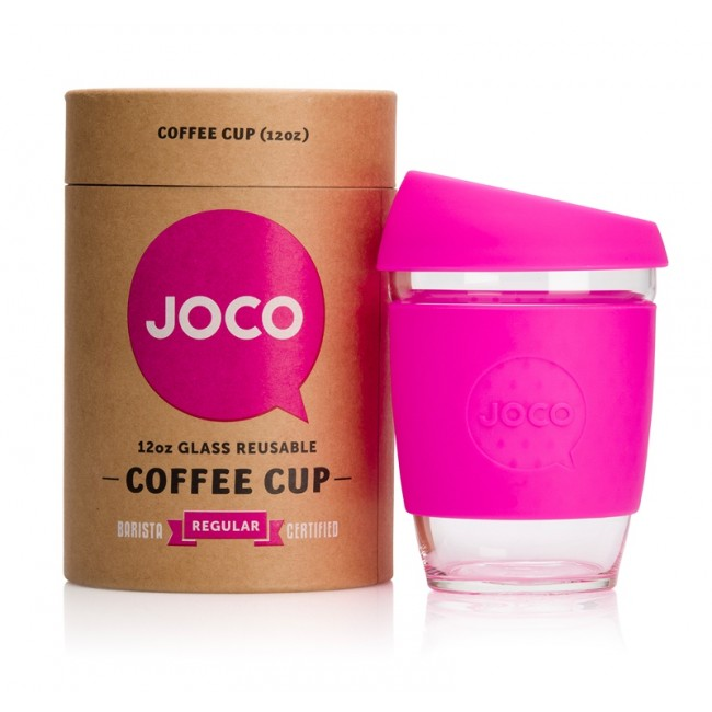 Joco Cup Reusable Glass Coffee Cup - Pink £19.95 click to visit Handpicked Collection