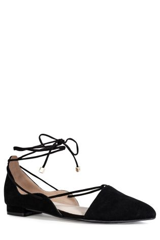 Black Ghillie Point Ballerina Shoes £45 click to visit Next