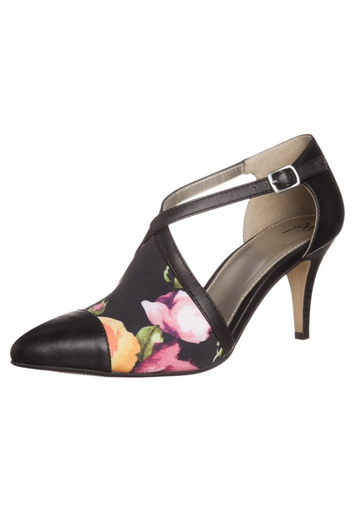 Anna Field Classic heels - black/black flower £34 click to visit Zalando