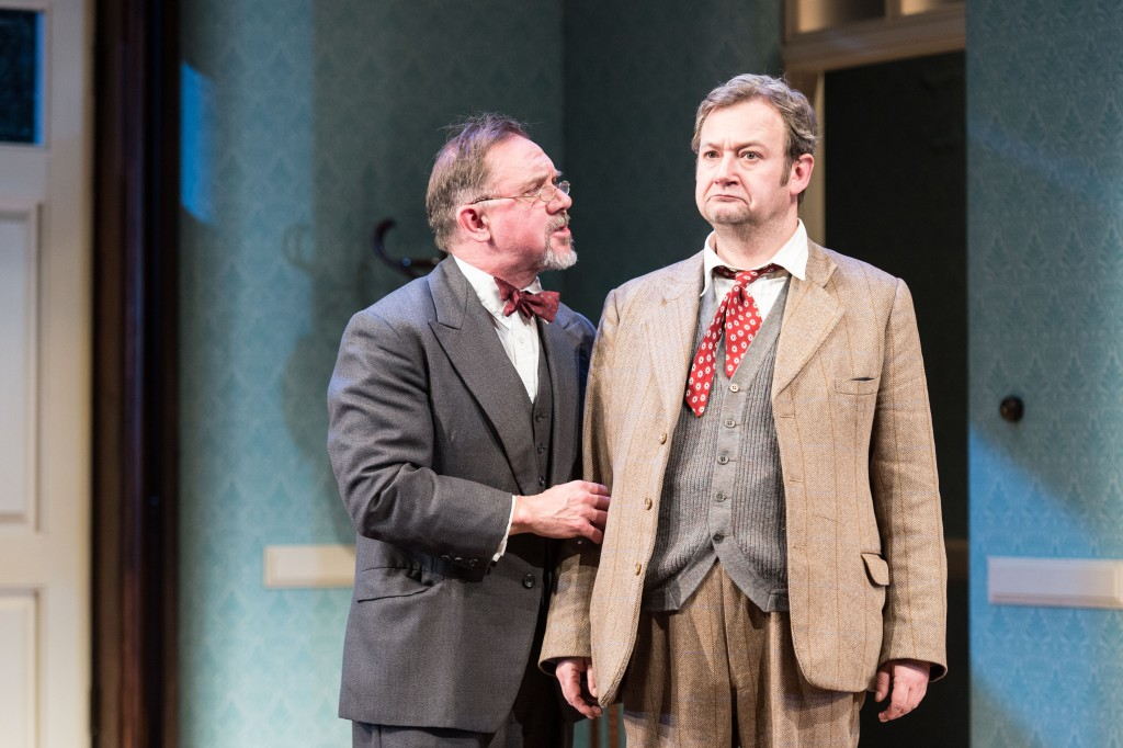 David Bamber as William R Chumley and James Dreyfus as Elwood P Dowd in Harvey. Photo by Manuel Harlan