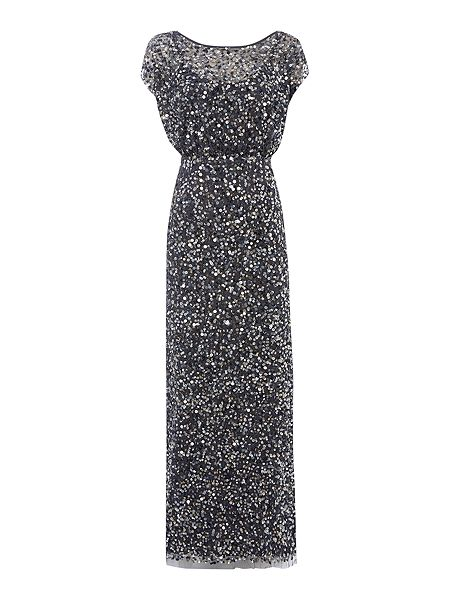 JS Collections Sequin blousson gown £144 click to visit House of Fraser