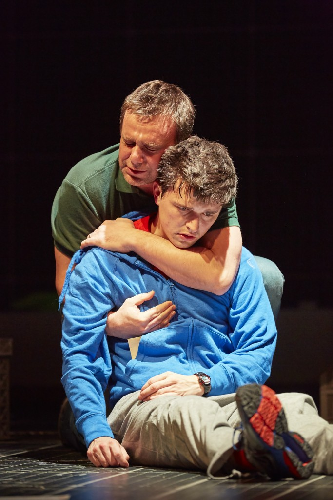 Joshua Jenkins (Christopher) and Stuart Laing (Ed) in The Curious Incident of the Dog in the Night-Time UK Tour. Photo by BrinkhoffMögenberg.JPG