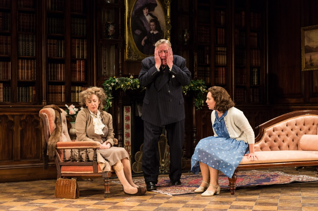 Maureen Lipman, Desmond Barrit and Ingrid Oliver in Harvey. Photo by Manuel Harlan