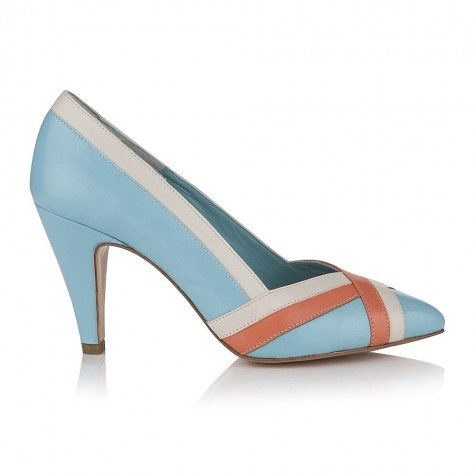Tiffany Sky Blue Leather Shoes £145 click to visit Agnes and Norman