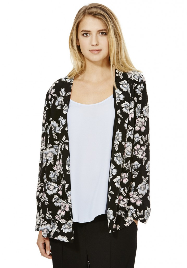 F&F Floral Print Duster Jacket £25.00 click to visit F&F