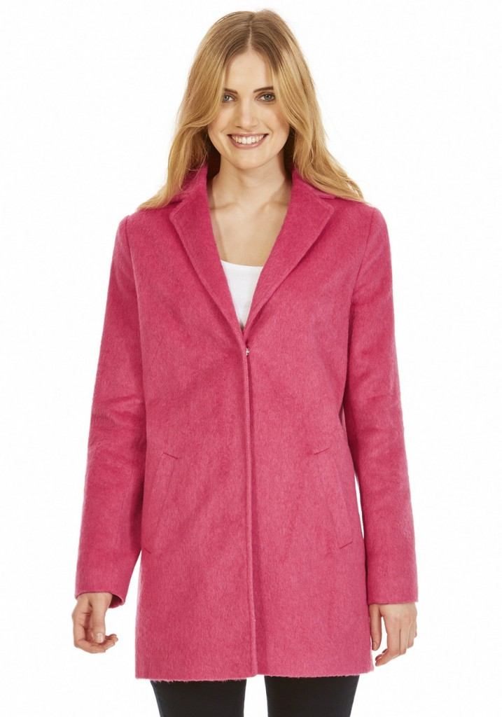F&F Textured Boyfriend Coat with Wool £55.00 click to visit F&F