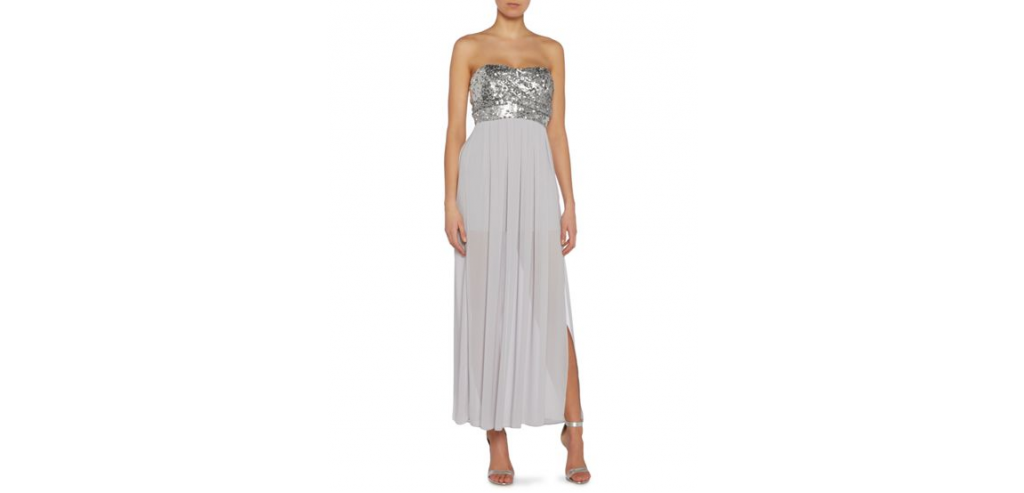 tfnc Strapeless sequin top maxi dress £55 click to visit House of Fraser