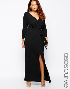 ASOS CURVE Maxi Dress With Tie Front £55.00 click to visit ASOS