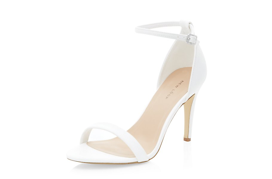 White Ankle Strap Heels £17.99 click to visit New Look