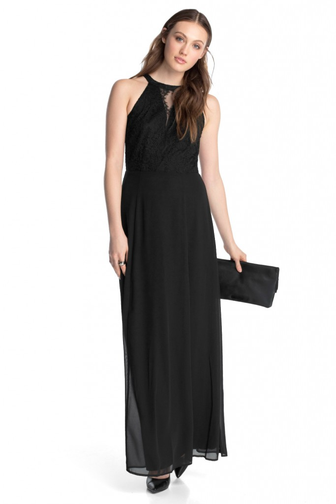 flowing maxi dress with lace at the top £ 99.00 click to visit Esprit