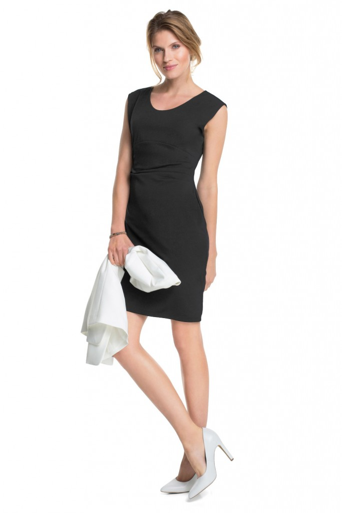 jersey dress with draped pleats at the side £ 59.00 click to visit Esprit