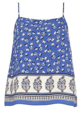 Blue Mini Floral Border Cami Top Price: £16.00 click to visit Dorothy Perkins