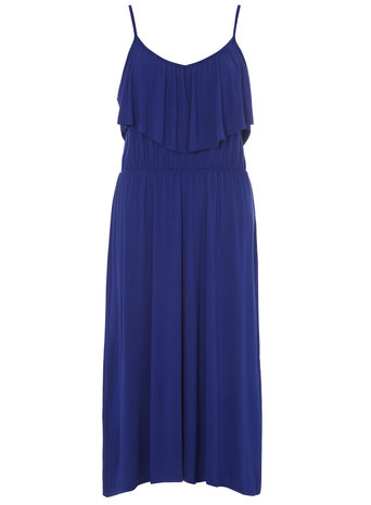 Cobalt blue jersey ruffle midi dress Price: £20.00 click to visit Dorothy Perkins