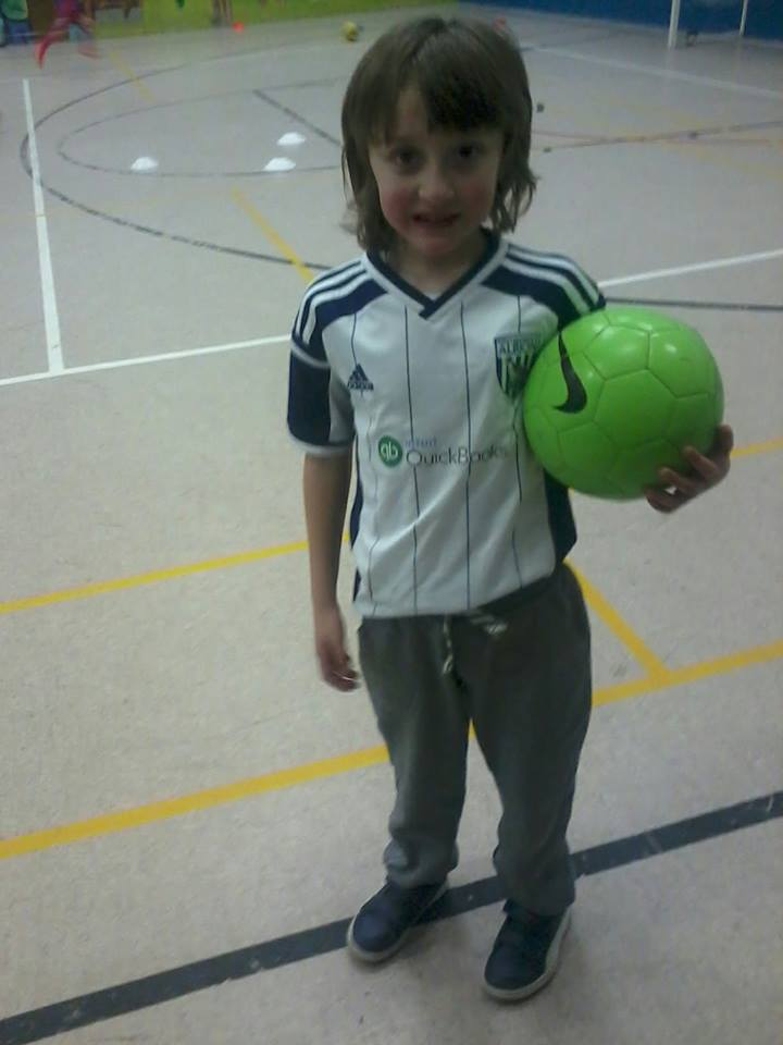 My little sports star training with the Albion Foundation