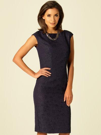 Floral jacquard shift dress £75.00 click to visit M&Co