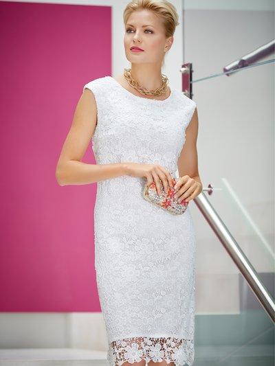 Guipure lace shift dress £85.00 click to visit M&Co