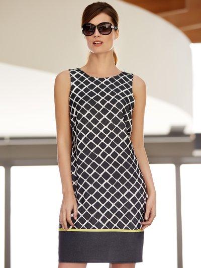Diamond print shift dress £39.00 click to visit M&Co