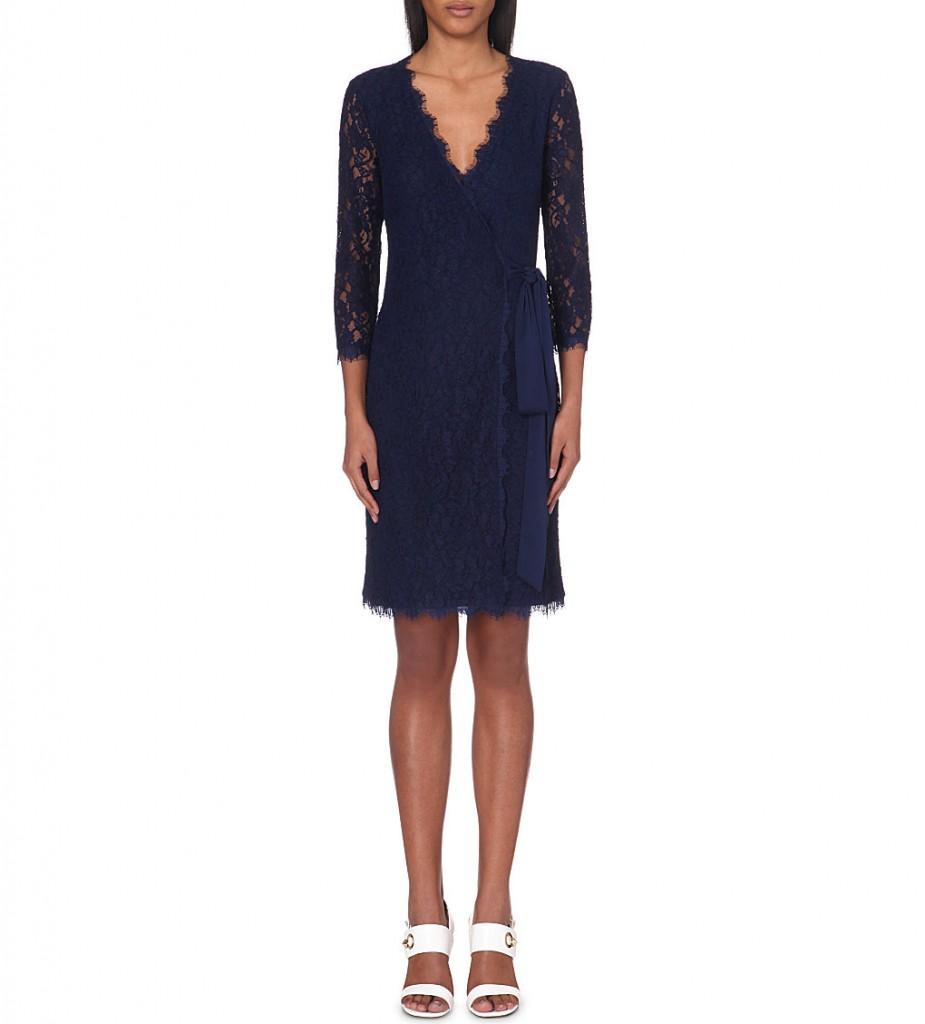 DIANE VON FURSTENBERG Julianna lace wrap dress     £420.00 click to visit Selfridges