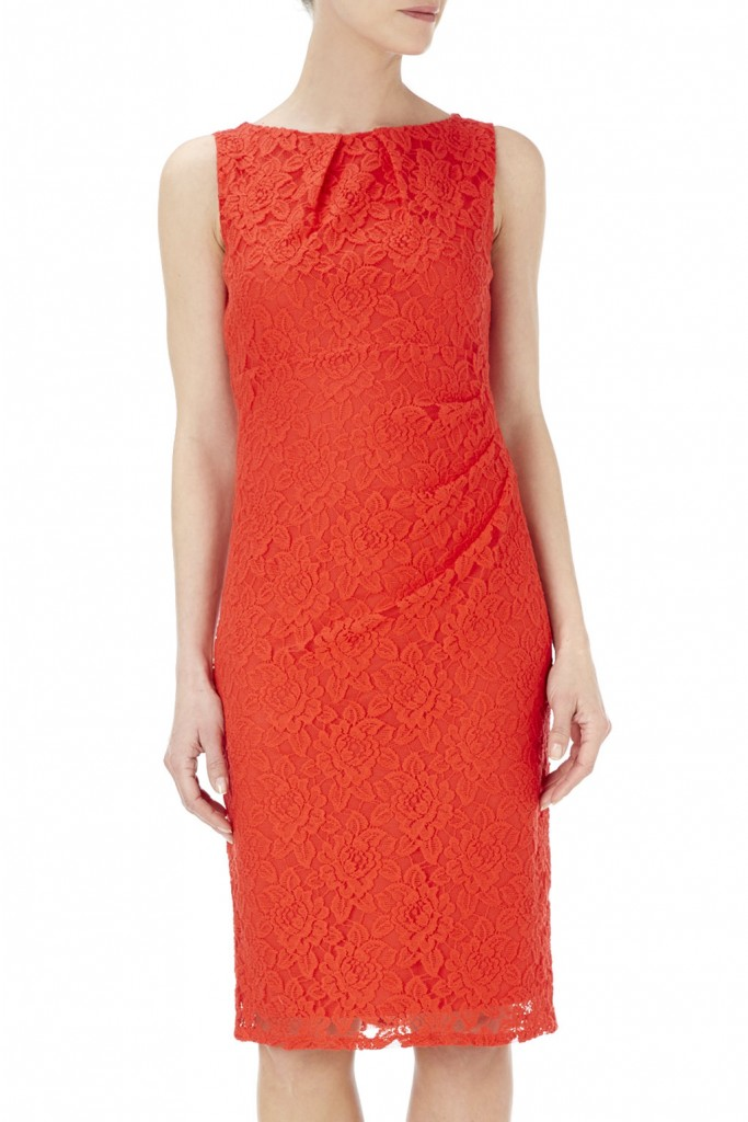 Orange Lace Ruche Side Dress     Was £45.00     Now £25.00 click to visit Wallis