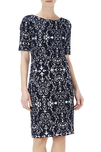 Ink Baroque Jacquard Dress     Was £40.00     Now £25.00 click to visit Wallis