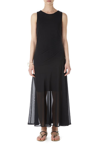 Full Length Black Chiffon Dress Was £50.00 Now £47.50 click to visit Wallis