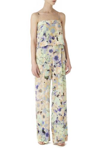 Floral Print Wide Leg Jumpsuit Was £65.00 Now £61.75 click to visit Wallis