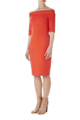 Coral off the Shoulder Dress Was £70.00 Now £66.50 click to visit Wallis