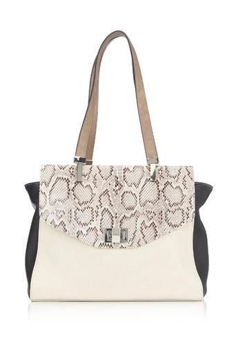 Neutral Snake Print Shoulder Bag Was £35.00 Now £26.25 click to visit Wallis
