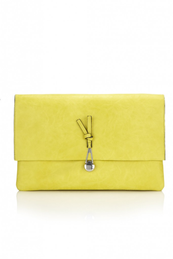 Lime Envelope Clutch Bag Was £28.00 Now £25.20 click to visit Wallis
