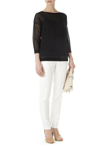 Black Slouchy Striped Jumper Was £35.00 Now £33.25 click to visit Wallis