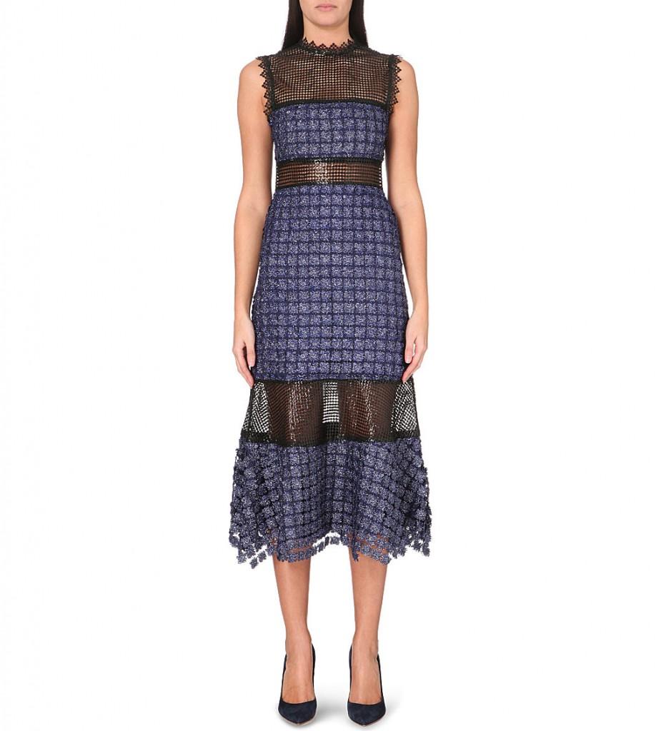SELF-PORTRAIT Ava embroidered midi dress     £260.00 click to visit Selfridges