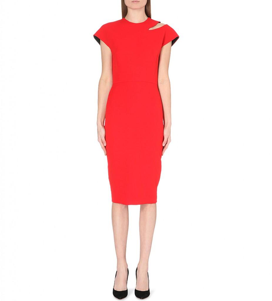 VICTORIA BECKHAM Silk and wool-blend dress     £1,550.00 click to visit Selfridges