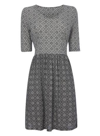 Tile Printed Half Sleeve Dress Price: £20.00 Click to visit BHS